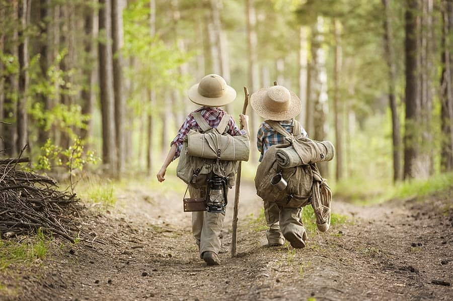 Children trekking kilimanjaro