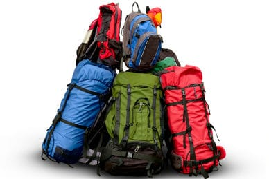 pile of packs