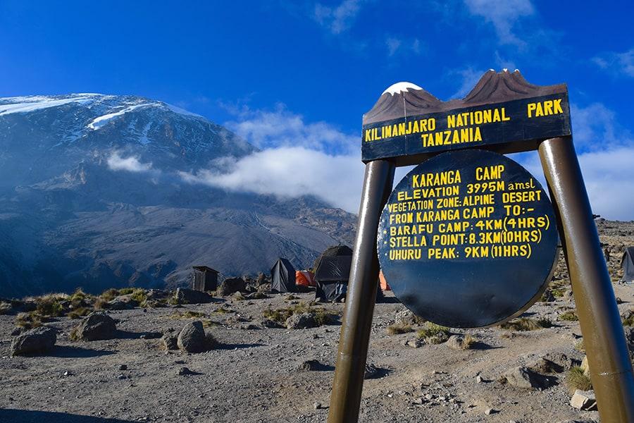 karanga camp sign