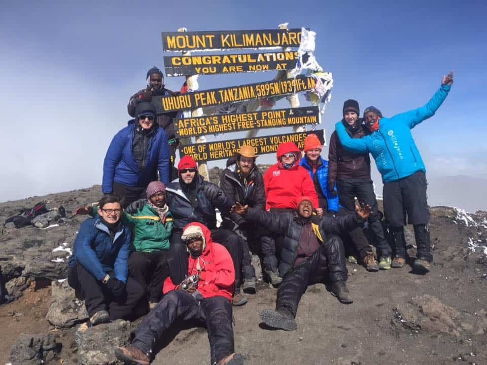 danny little climbs kilimanjaro