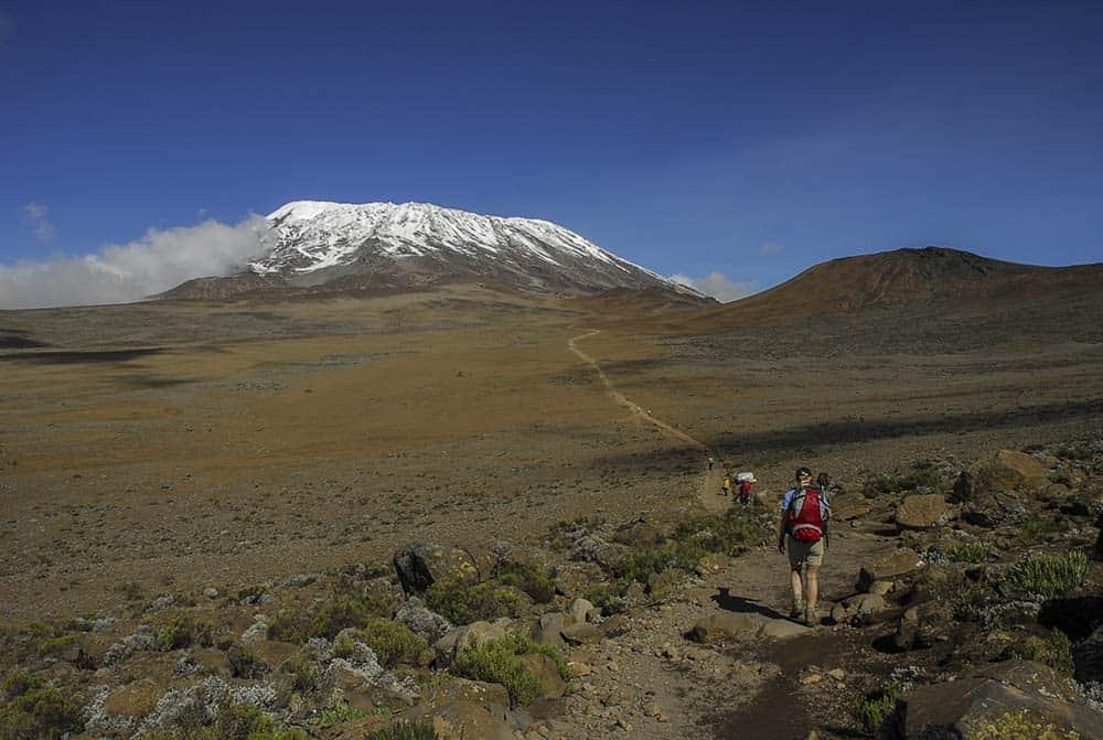 trekking toward mt. kilimanjaro