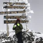 anupreeta at the kilimanjaro summit