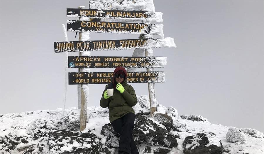 anupreeta at the kilimanjaro summit