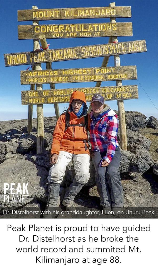 oldest man to summit mt. Kilimanjaro