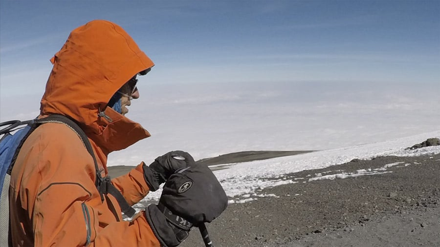 Dr Fred Distelhorst on Summit of Kilimanjaro