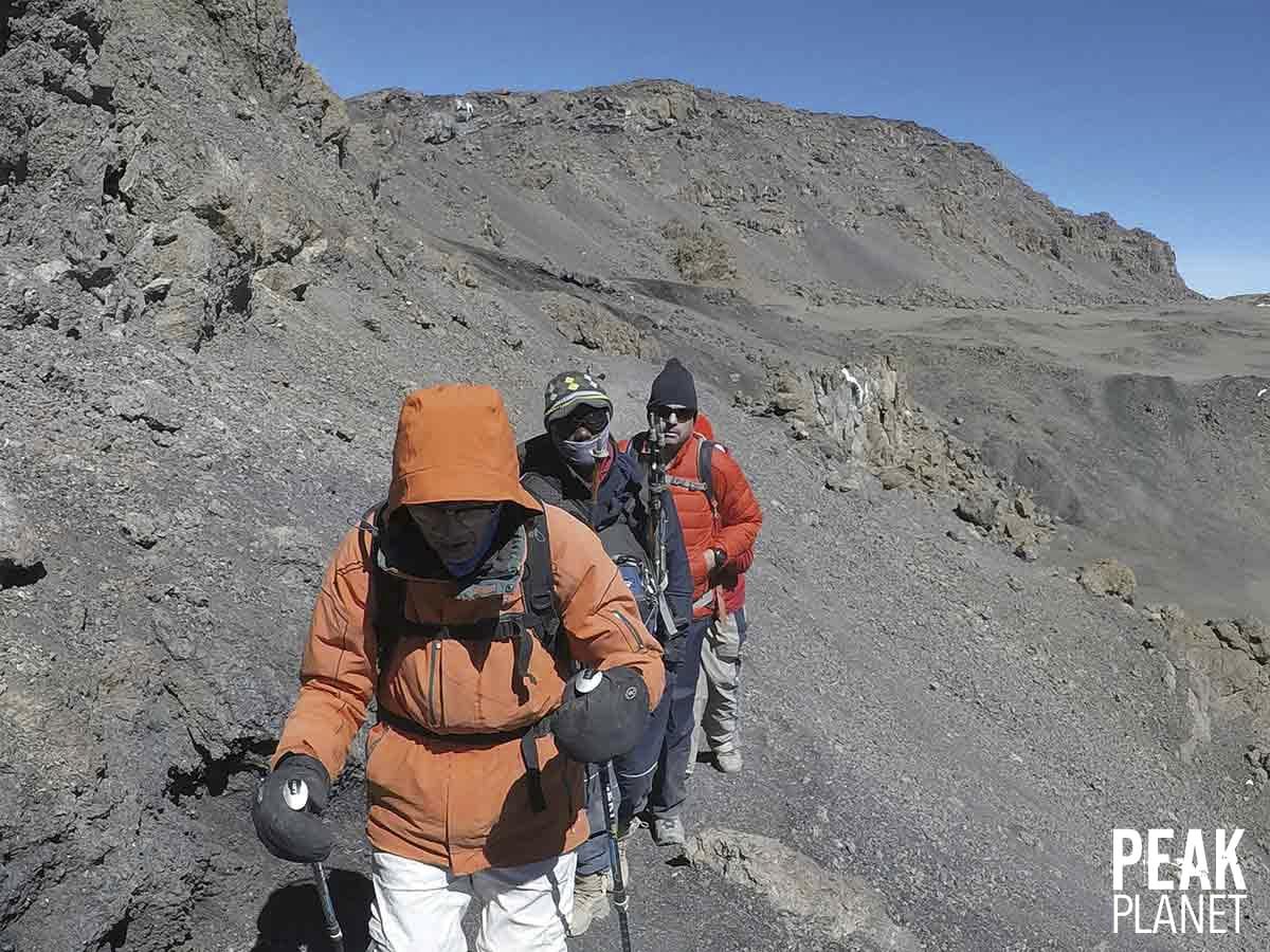 Dr. Distelhorst near the summit of Kilimanjaro