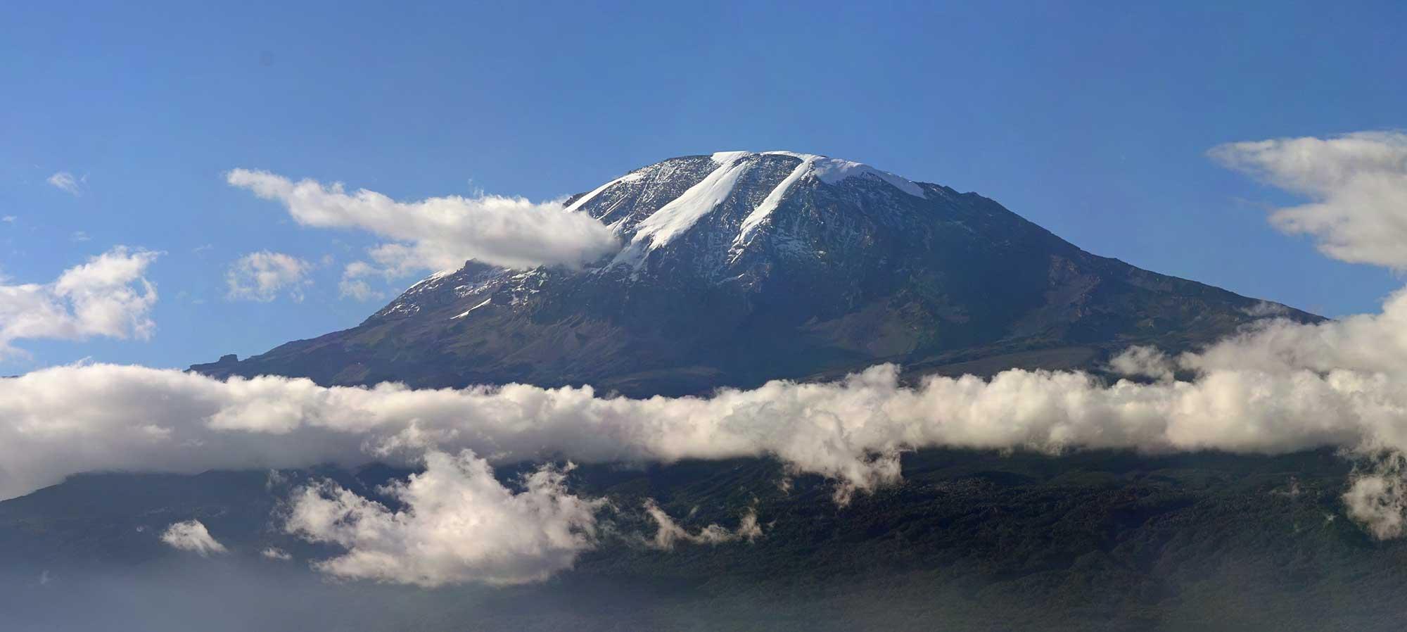 clouds over kilimanjaro