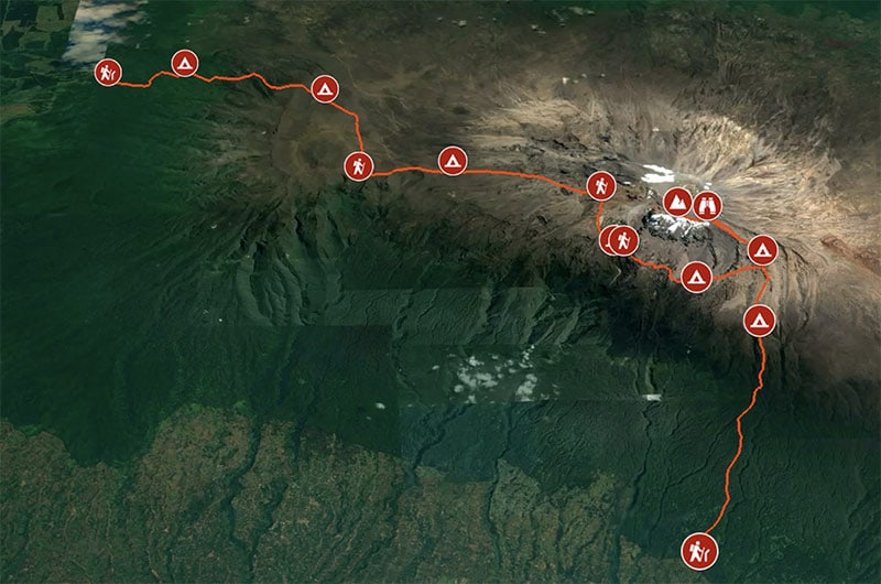 how long does it take to walk up kilimanjaro