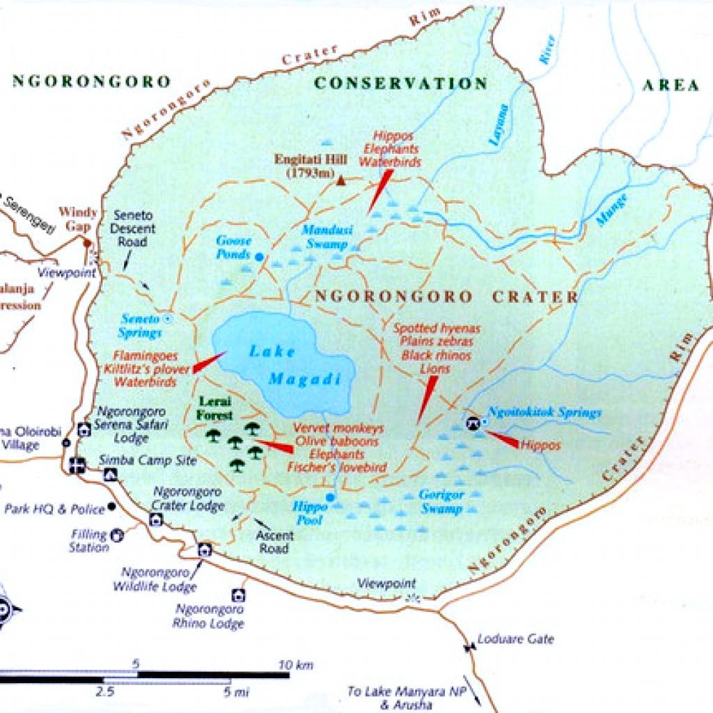 the ngorongoro crater peak planet