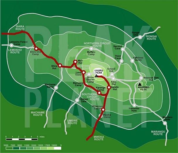shira route