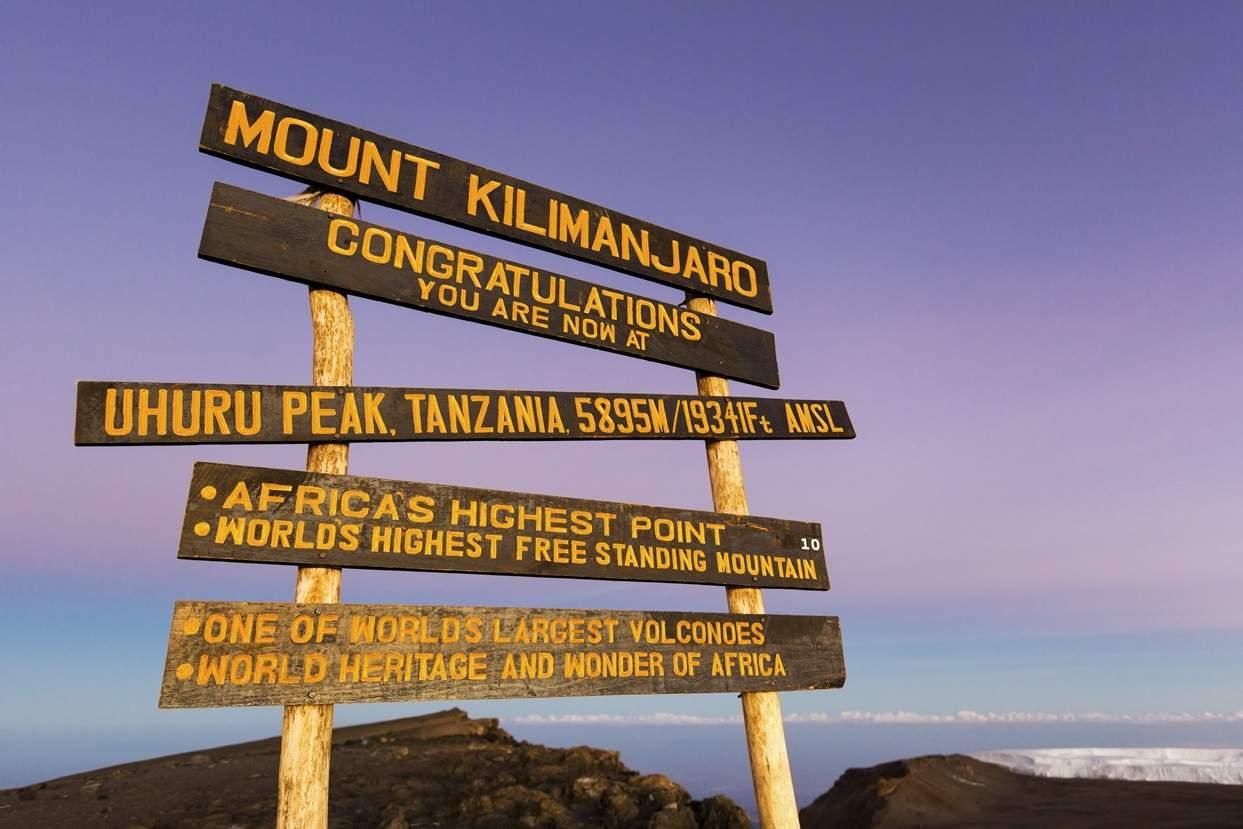 kilimanjaro sign