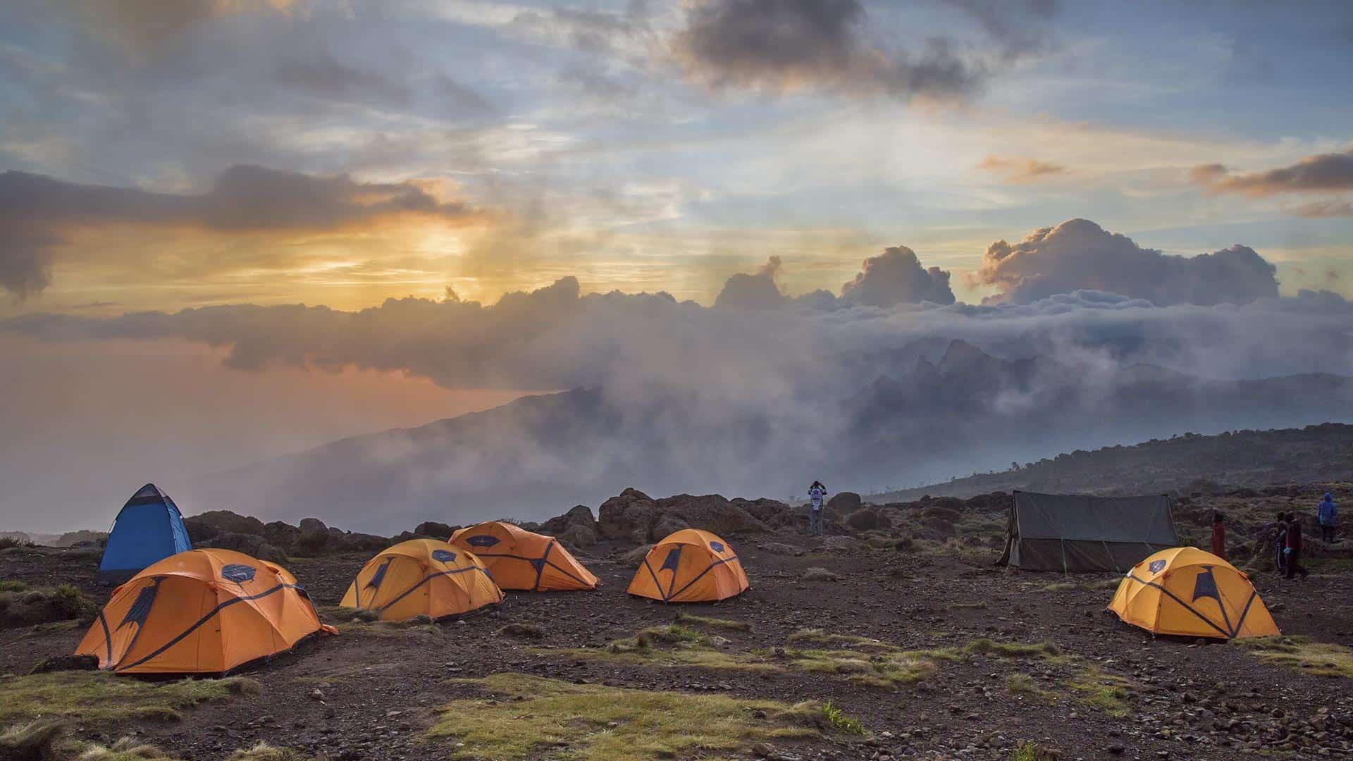 tents on kilimanjaro