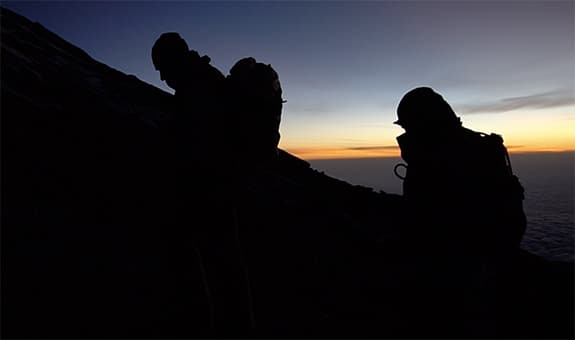summit night kilimanjaro