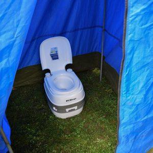 private toilet tent