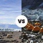 Everest base camp vs Kilimanjaro