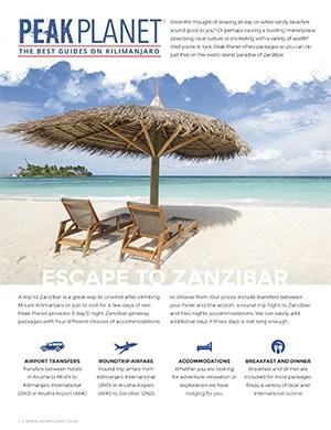 Zanzibar brochure